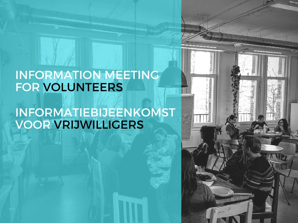 Informatiebijeenkomst nieuwe vrijwilligers