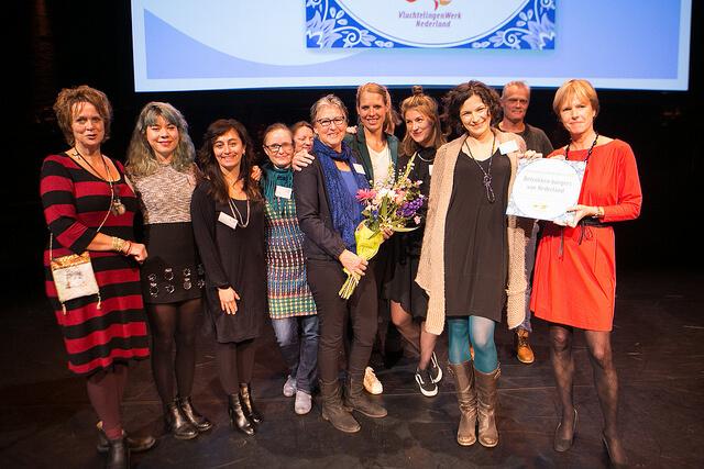 Takecarebnb wint VluchtelingenWerk Award